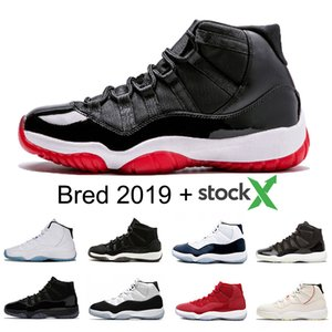 Wholesale Stock X Bred XI Mens Basketball shoes s Concord Space Jam Cap and Gown Men Women Sports sneakers