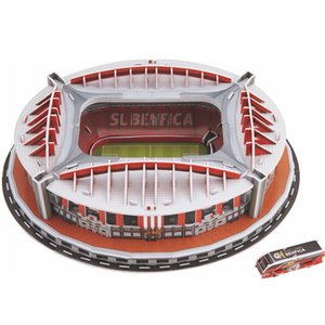 Wholesale funny set Portugal Benfica Stadium Ru Competition Football Game Stadiums Building Model Toy Kids Child Gift Original Box Q190530