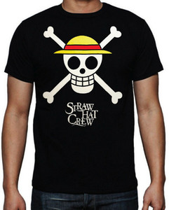 One Piece Straw Hat Pirate Crew Luffy Japanese Anime Cartoon Black T Shirt Classic Unique Tops Tee Shirt