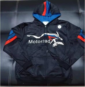 New Motorrad Racing Team Zip Up Sweat Men's Black Sweatshirt Motorcycle Hoodie for BMW Polyester Cardigan Zipper Jacket