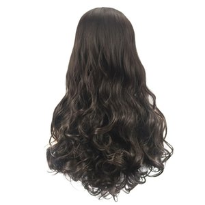 Wholesale Factory price pc Women Fashion Lady Hairstyle Soft Synthetic Hair Long Wigs Wave Curly cm Wigs Stand Stocked Feb11