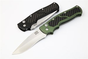 Wholesale New Brend Auto Tactical Folding Knife D2 Drop Point Satin Finish Blade T6061 Carbon Fiber Handle EDC Gear