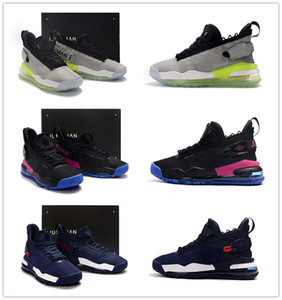 Wholesale 2019 New Colorway Proto Neon Green to Blue gradient outsole Men Sports Shoes Jumpman Purple Royal Mens designer trainer