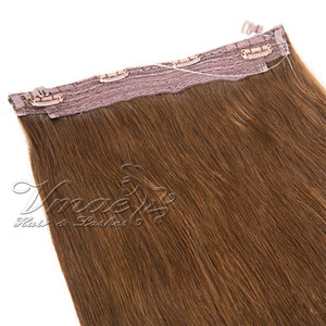 Brazilian Straight Flip In Halo Hair extensions Hair 12 - 30 Inch 1Pcs Set 120g 140g 160g Halo Non-remy virgin Human Hair Extensions