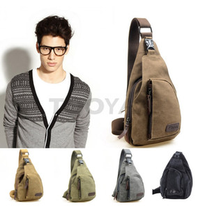 LYTOO Canvas Shoulder Bag Men Boys Fashion Chest Packs Small Ourdoor Sports Casual Bags Cross Body