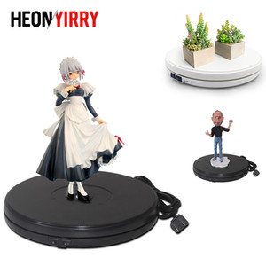 Wholesale 25cm LED Photo Degree Electric Rotating Turntable Rotating Display Stand for Photography Jewelry Watch Digital Product