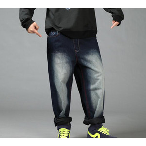 New Hip Hop Baggy Jeans Mens Denim Hip hop Loose Pants Rap Jeans For Boy Rapper Fashion Plus size 30-46