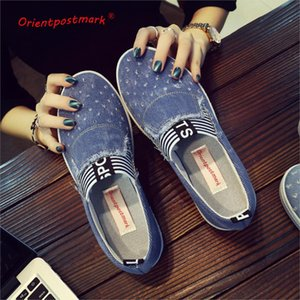 Women Denim Shoes flats Fashion Casual Jeans Shoes Girl Classic Soft Flats Soles Students Spring Canvas Lady New Arrival