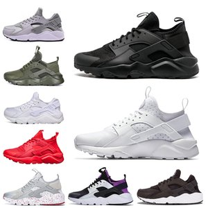 Wholesale Huarache Triple White Black mens womens Running Shoes red grey Huaraches Runner sport Mens Trainers Sneakers Size