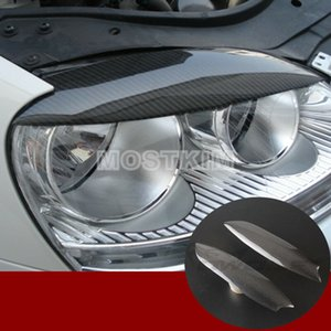 Carbon Fiber Headlight Eye Lid Eyebrow Cover For VW Golf 5 GTI R32 MK5 2005-2007