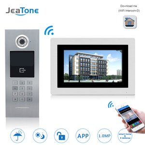 Wholesale JeaTone WIFI IP Video Door Phone Intercom Wireless Door Bell Building Security Access Control System Touch Screen Password IC Card