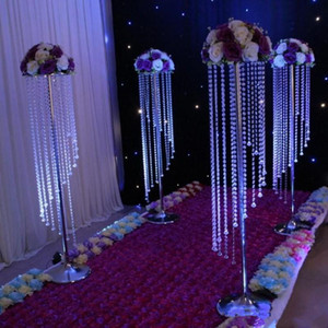 Wholesale centerpieces for tables resale online - Sale by Bulk Sparkling Crystal clear garland chandelier wedding cake stand birthday party supplies decorations for table top Centerpieces