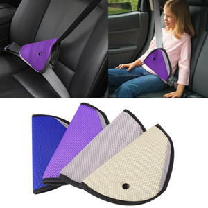 Wholesale Triangle Child Baby Kids Car Safety Seat Belt Holder Air Mesh Harness Adjuster Seatbelt Strap Clip Cover Colors