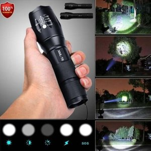 Wholesale Police LED Flashlight Tactical 50000LM XML-T6 Zoomable Torch Lamp 5 Modes