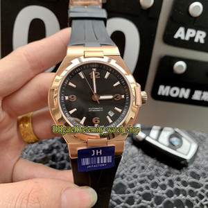 Wholesale jh gold resale online - JH High Quality Overseas MM Date R Rose Gold Case Black Dial Miyota Automatic Mens Watch Rubber Strap Sport Watches
