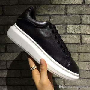 2018 New style top quality model MQUEEN shoes blacks Hot sale brand Men and women Genuine Leather High quality Shoes Size 36-45 on Sale