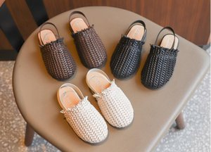 Wholesale hot sale Baby Girls crochet sandals Fashion design infant Slippers Kids summer beach shoes children toddler solid color XXP178
