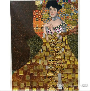 Wholesale hd classical paintings for sale - Group buy Gustav Klimt of Adele Bloch Bauer I gold Handpainted HD Print Classical Portrait Art Oil Painting On Thick Canvas Multiple Sizes p17