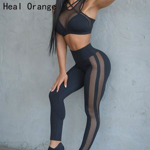 Wholesale Sexy Mesh Yoga Set Jogging Women Suit Set Sport Women Fitness Gym Yoga Shirt Sports Women S Clothing Womens Exercise Sets