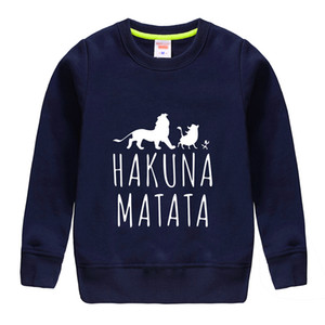 2018 top sale funny print top soft pullover baby boy hoodie clothing high quality cotton sweathsirt design for 4-13 t child top on Sale