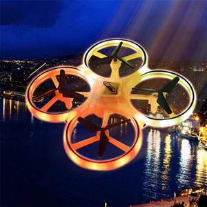 Wholesale 2019 Newest Intelligent Gesture Sensing Aircraft Watch Induction Remote Control Four axis Drone Aircraft Intelligent Children s Toys