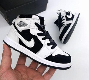 Wholesale Luxury designer Kids 1s Space Jam Bred Concord Gym Red off Basketball Shoes 2019 Children Boy Girls youth Midnight Navy Sneakers Toddlers
