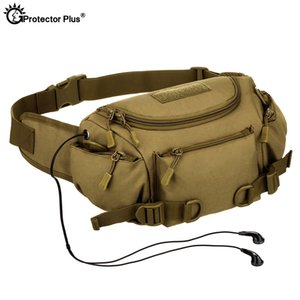 Wholesale PROTECTOR PLUS Multifunction Tactical Waist Bag Camouflage Dual use bag Outdoor Riding Sports Climbing Messenger
