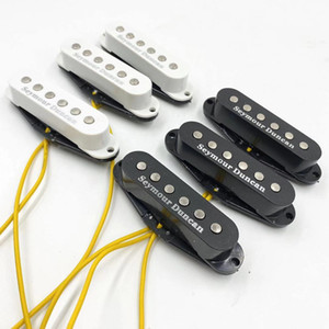 Wholesale electric guitars pickups resale online - Seymour Duncan Pickup set SSL Bridge And Middle And Neck Alnico Single Coil Pickups For ST Electric Guitar