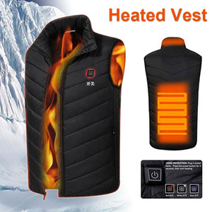Wholesale Electric Heated Vest Down Cotton Hot USB Heated Pad Jacket Winter Heating Coat Clothing Physiotherapy Thermal Sleeveless
