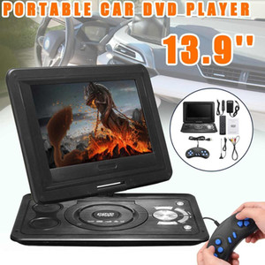 "Wholesale 13.9"" Portable LCD Screen DVD Player USB FM Radio Receiver AV CD Speakers Game Player Mini TV+ 300 Games Joysticks"