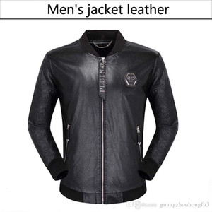 Wholesale NEW Fashion Men's leather motorcycle coats jackets used leather coat Leather jacket