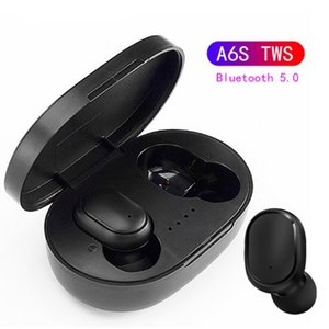 Wholesale TWS A6S Bluetooth Headset Bluetooth Earphone Wireless Earphones Life Waterproof Bluetooth Headset with Mic for all Smart Phone