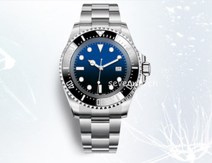Wholesale sea dweller automatic watches for sale - Group buy 44MM New Swiss Ceramic Bezel Black Red Green Blue color Watch Adjustable Strap Automatic Movement Sports Watch Sea Dweller Watch