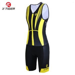 Wholesale X Tiger Pro Triathlon Sleeveless Cycling Jersey Sponge Pad Cycling Skinsuit Uniform Quick dry Running Swimming Bike Wear