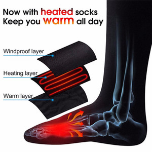 Wholesale heated socks for sale - Group buy Thermal Cotton Heated Socks Sports Ski Socks Winter Foot Warmer Electric Warm Up Sock Battery Power for Men Women High Quality