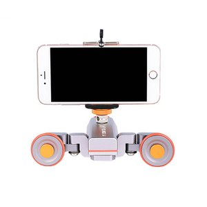 roues de chariot de caméra achat en gros de-news_sitemap_homeFreeshipping L4 Motorisée Dolly Dolly Sans Wirelote Dolle Poulie Rail Rail Rail Piste Dolly Slider pour iPhone DSLR Caméra Smart Phone Smart Phone