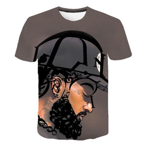 American Rapper 3D Tshirts Mens Women Summer Nipsey Hussle Casual Tees Short Sleeved Tops
