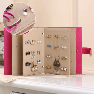Wholesale Hot Sale Women Stud Earrings Collection Book PU Leather Earring Storage Box Creative Jewelry Display Holder Jewellery Organizer