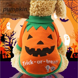 Wholesale Occident Halloween Unisex Autumn Winter New Unisex Orange Purple Funny Dog Costumes Two Legged Clothes Gift For Pet Free Shopping