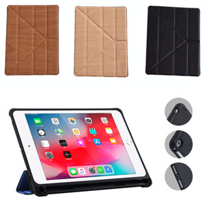 Wholesale For iPad Air pro Wood Grain Crease More FoldWallet Magnetic Flip PU Leather Stand Case Cover