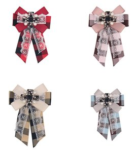 Wholesale celtic style wedding dresses resale online - new fashion Fabric Bow Brooches for Women Necktie Style bee Brooch Pin Wedding Dress Shirt Brooch Pin Handmade Accessories Good Gift