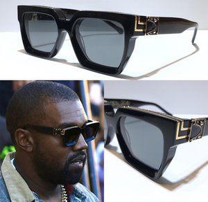 Wholesale yellow sunglasses resale online - New Men Sunglasses Z1165W Millionaire Square Frame Vintage Shiny Gold Summer UV400 Lens Style Laser Logo Top Quality