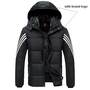Heavy Coat Black Plush Lining inside Soft Light Warm Windproof Outdoor Clothing Ventilate Good Quality with Clear Logo D09