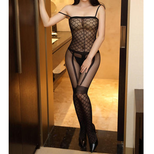 Wholesale lingerie sexy femme Solid Bra Set Sexy Sheer Lingerie Sexy Hot Erotic Lingerie Babydoll Underwear Body Stocking One Size L0328