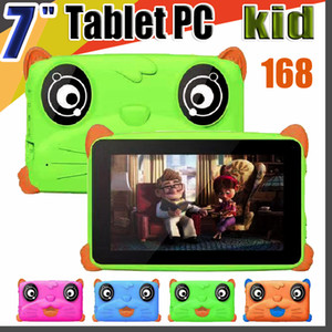 "168 NEW Kids Brand Tablet PC 7"" 7 inch Quad Core children tablet Android 4.4 Allwinner A33 google player 512MB RAM 8GB ROM EBOOK MID"