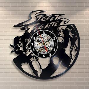 Street Fighter Vinyl Record Clock Home Design Room Art Decor Handmade