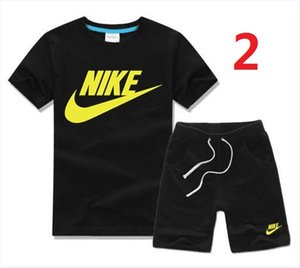 Wholesale HOT SELL New classic Style Children s Clothing For Boys And Girls Sports Suit Baby Infant Short Sleeve Clothes Kids fashion Set A