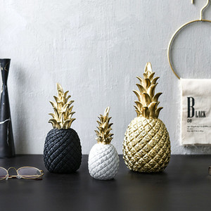 Wholesale Original Nordic Modern INS Pineapple Creative Decor Living Room Wine Cabinet Window Desktop Ornaments Home Decoration Accessories
