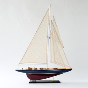 Mediterranean Wooden American Sailing Home Smooth Sailing Creative Desktop Ornaments Craft Gifts Sailboat Manual Accessories