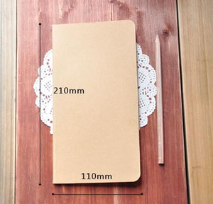 Wholesale covers pages resale online - H5 Unlined Travel journals notebooks Kraft Brown Soft Cover Notebook mm x mm Pages Sheets